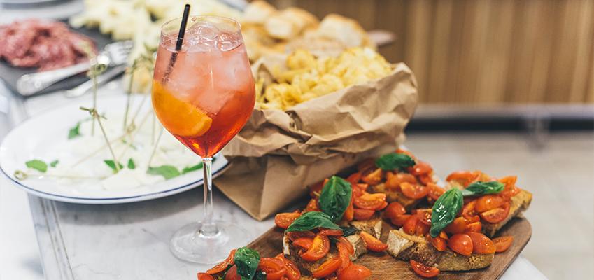 italiensk mat och dryck