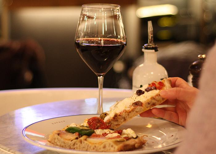 pizza och vin erbjudande